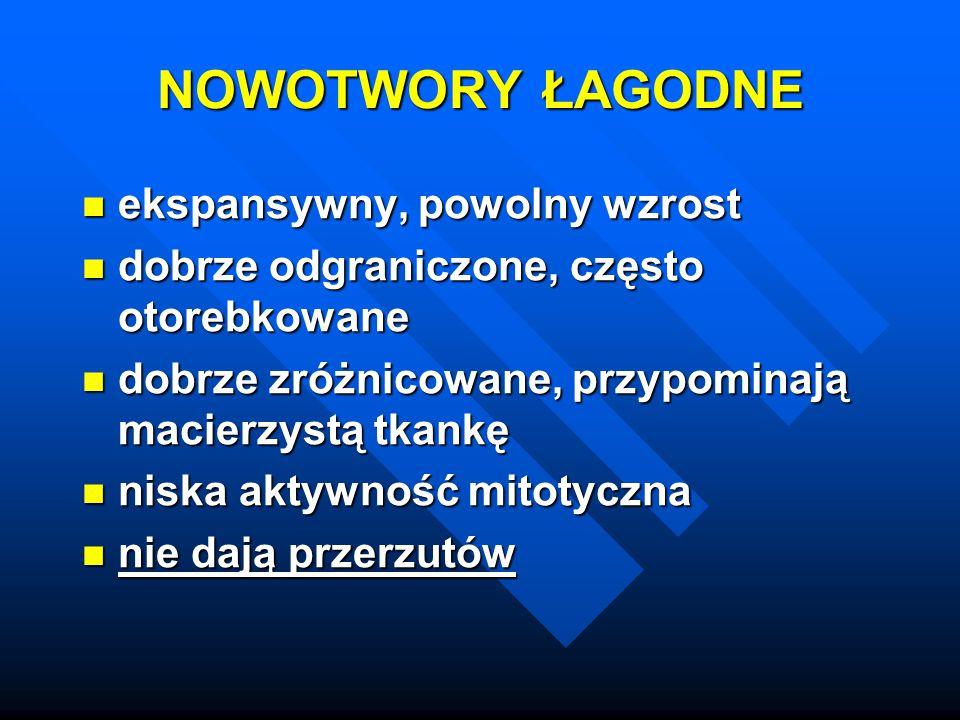 Endokrynopatie: Endokrynopatie: - hiperkalcemia - rak sutka, nerki, płuca, jajnika - hiperkalcemia - rak sutka, nerki, płuca, jajnika - zespół Cushinga - rak płuca, trzustki - zespół Cushinga - rak płuca, trzustki - hipoglikemia - rak wątroby, fibrosarcoma - hipoglikemia - rak wątroby, fibrosarcoma - zespół rakowiaka - rak trzustki - zespół rakowiaka - rak trzustki - policytemia – rak nerki, wątroby - policytemia – rak nerki, wątroby