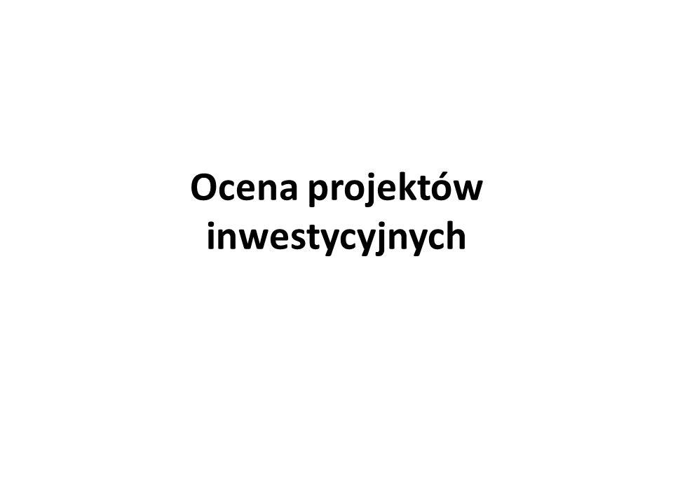 Ocena projektów inwestycyjnych