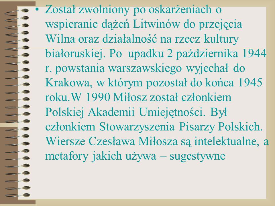 Został zwolniony po oskarżeniach o wspieranie dążeń Litwinów do przejęcia Wilna oraz działalność na rzecz kultury białoruskiej. Po upadku 2 październi