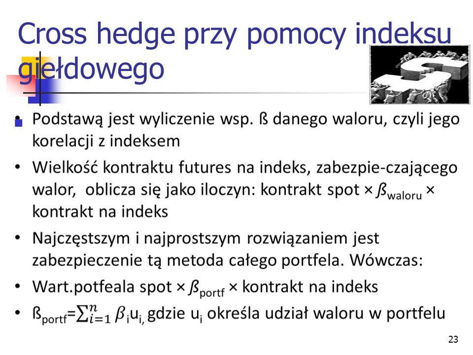 23 Cross hedge przy pomocy indeksu giełdowego