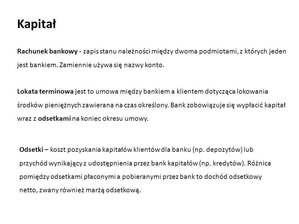 Lokata terminowa jest to umowa między bankiem a klientem dotycząca lokowania środków pieniężnych zawierana na czas określony.