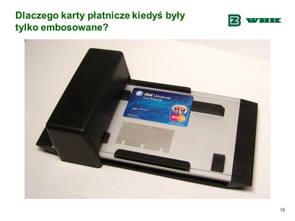 18 Dlaczego karty płatnicze kiedyś były tylko embosowane?