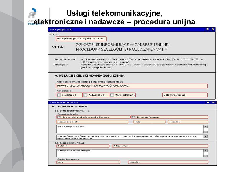 Usługi telekomunikacyjne, elektroniczne i nadawcze – procedura unijna 29