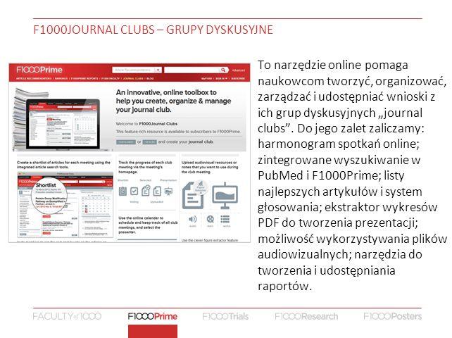 """To narzędzie online pomaga naukowcom tworzyć, organizować, zarządzać i udostępniać wnioski z ich grup dyskusyjnych """"journal clubs ."""