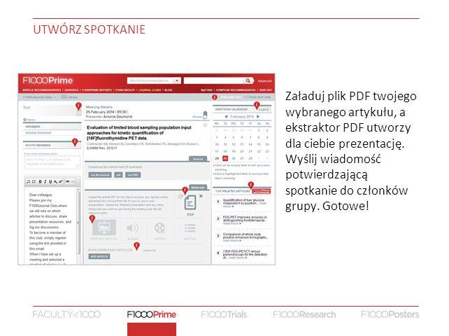 Załaduj plik PDF twojego wybranego artykułu, a ekstraktor PDF utworzy dla ciebie prezentację.