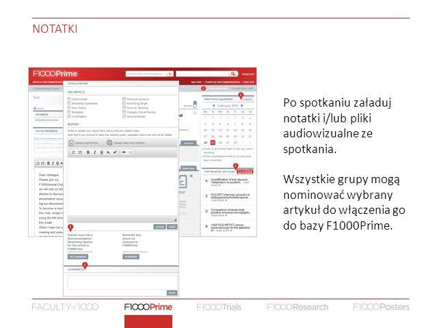 NOTATKI Po spotkaniu załaduj notatki i/lub pliki audiowizualne ze spotkania.