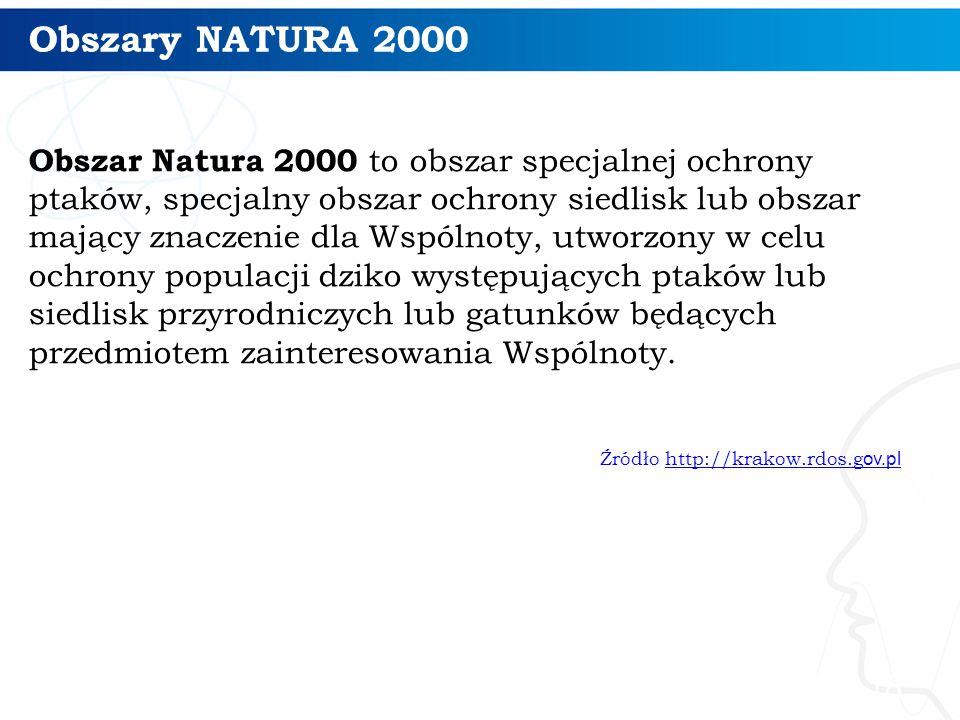 Obszary NATURA 2000 18 Obszar Natura 2000 to obszar specjalnej ochrony ptaków, specjalny obszar ochrony siedlisk lub obszar mający znaczenie dla Wspól