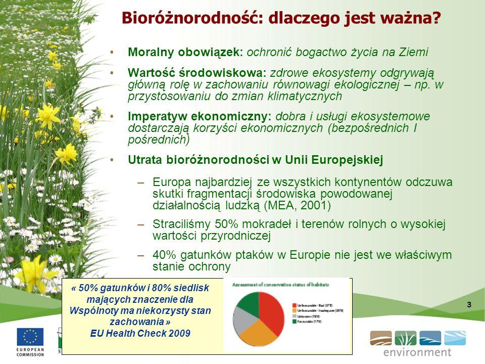 3 Bioróżnorodność: dlaczego jest ważna? Moralny obowiązek: ochronić bogactwo życia na Ziemi Wartość środowiskowa: zdrowe ekosystemy odgrywają główną r