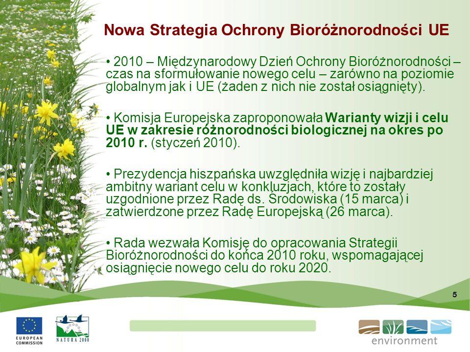5 Nowa Strategia Ochrony Bioróżnorodności UE 2010 – Międzynarodowy Dzień Ochrony Bioróżnorodności – czas na sformułowanie nowego celu – zarówno na poz