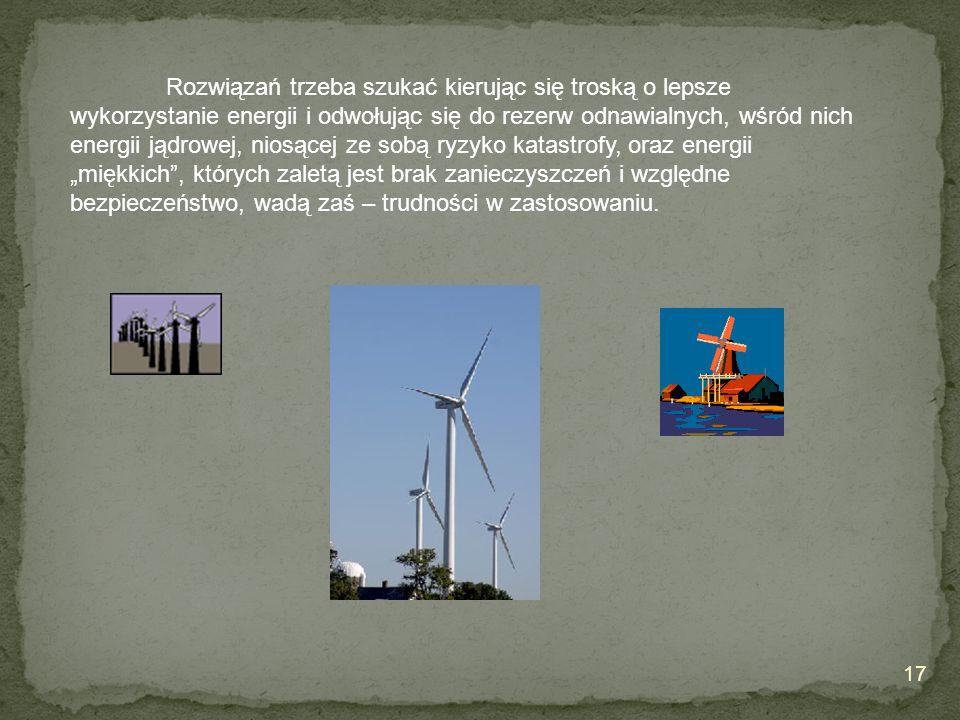 Rozwiązań trzeba szukać kierując się troską o lepsze wykorzystanie energii i odwołując się do rezerw odnawialnych, wśród nich energii jądrowej, niosąc