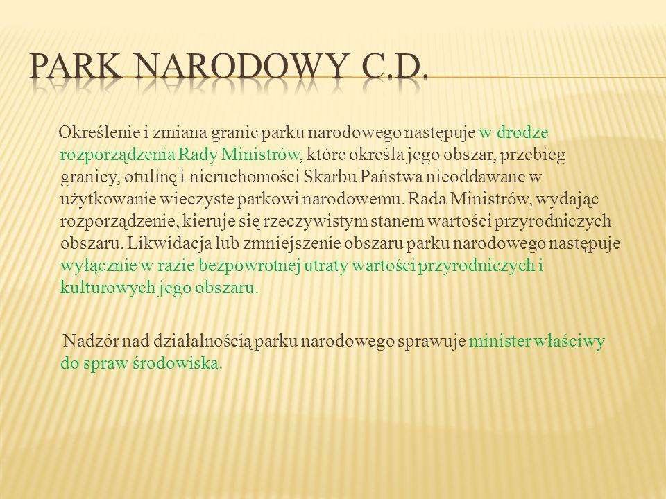  Na obszarach graniczących z parkiem narodowym wyznacza się (obligatoryjnie!) otulinę parku narodowego.