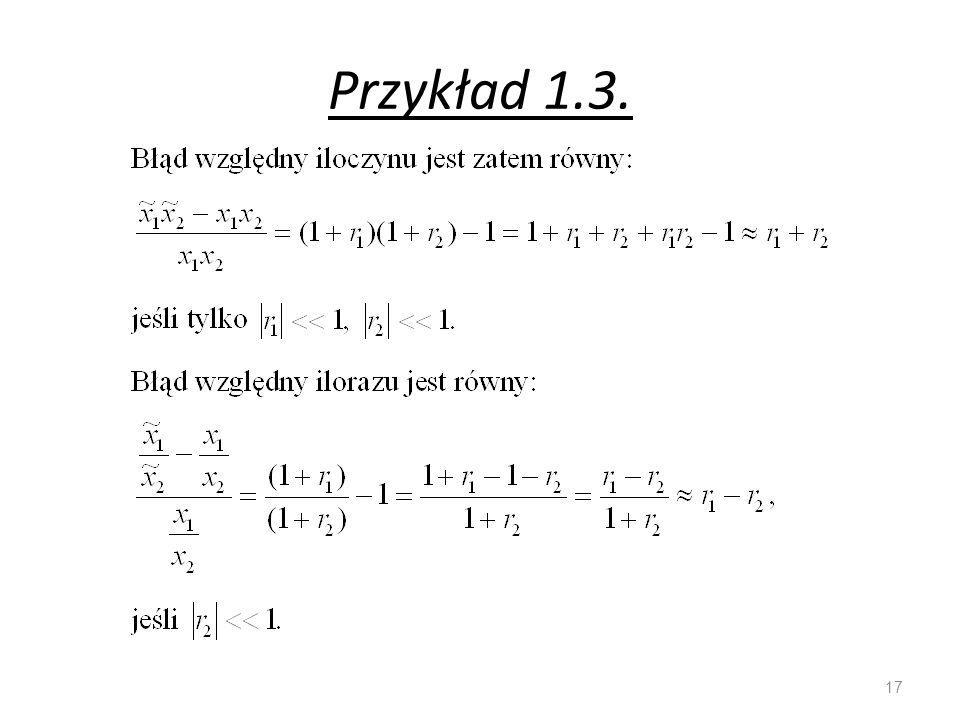 Przykład 1.3. 17