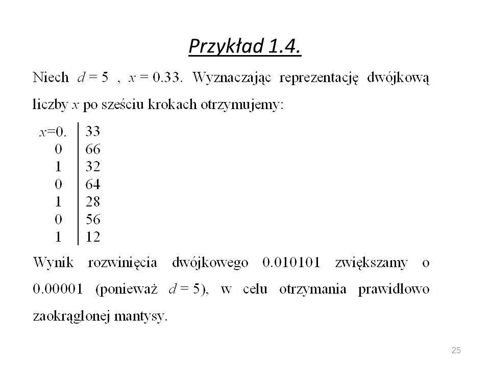 Przykład 1.4. 25