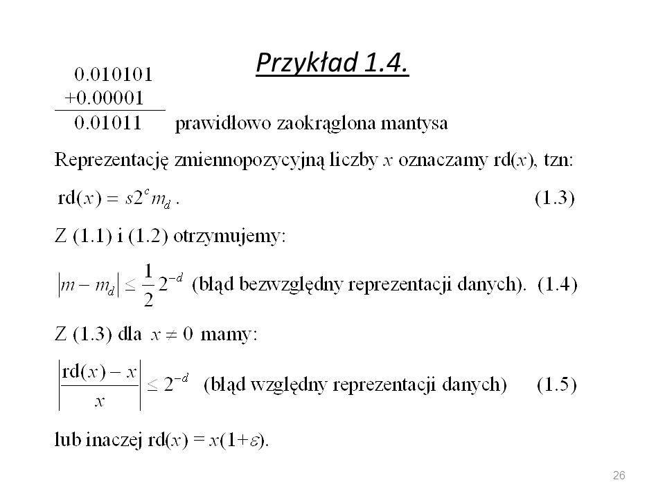 Przykład 1.4. 26