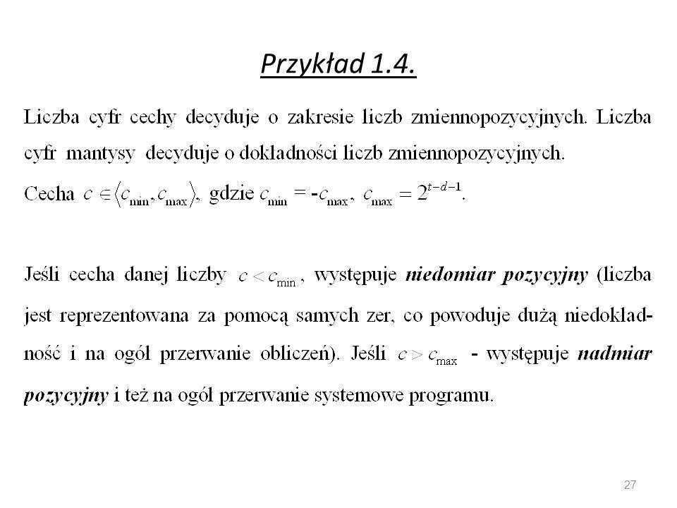 Przykład 1.4. 27