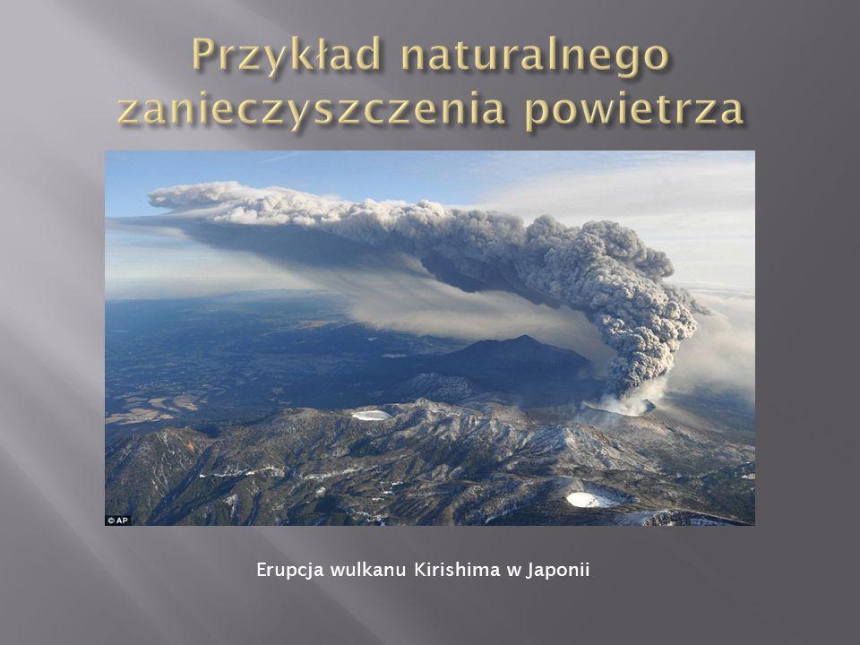 Erupcja wulkanu Kirishima w Japonii