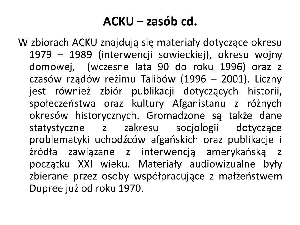 ACKU – zasób cd.
