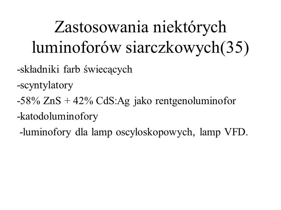 Degradacja luminoforów cd(34) Szarzenie katodoluminoforów siarczkowych tłumaczy się zatem wydzielaniem wolnych metali.