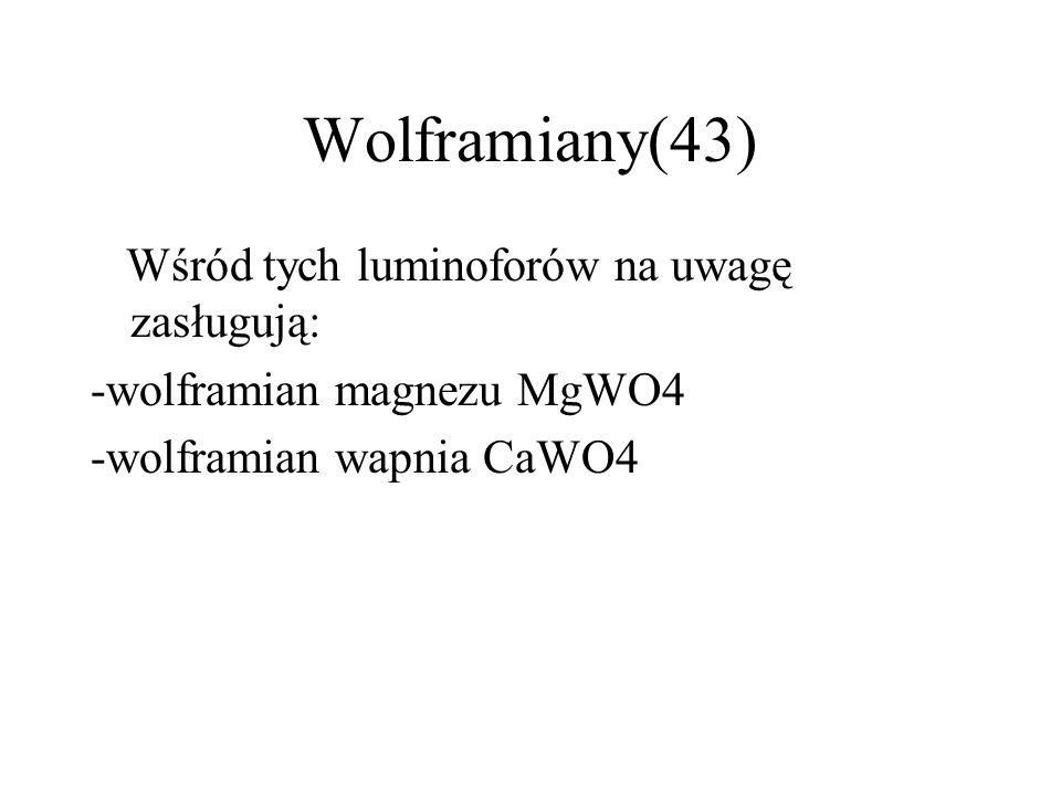 Halofosforany-cd(42) Halofosforany znalazły zastosowanie jako luminofory w lampach fluorescencyjnych- świetlówkach.