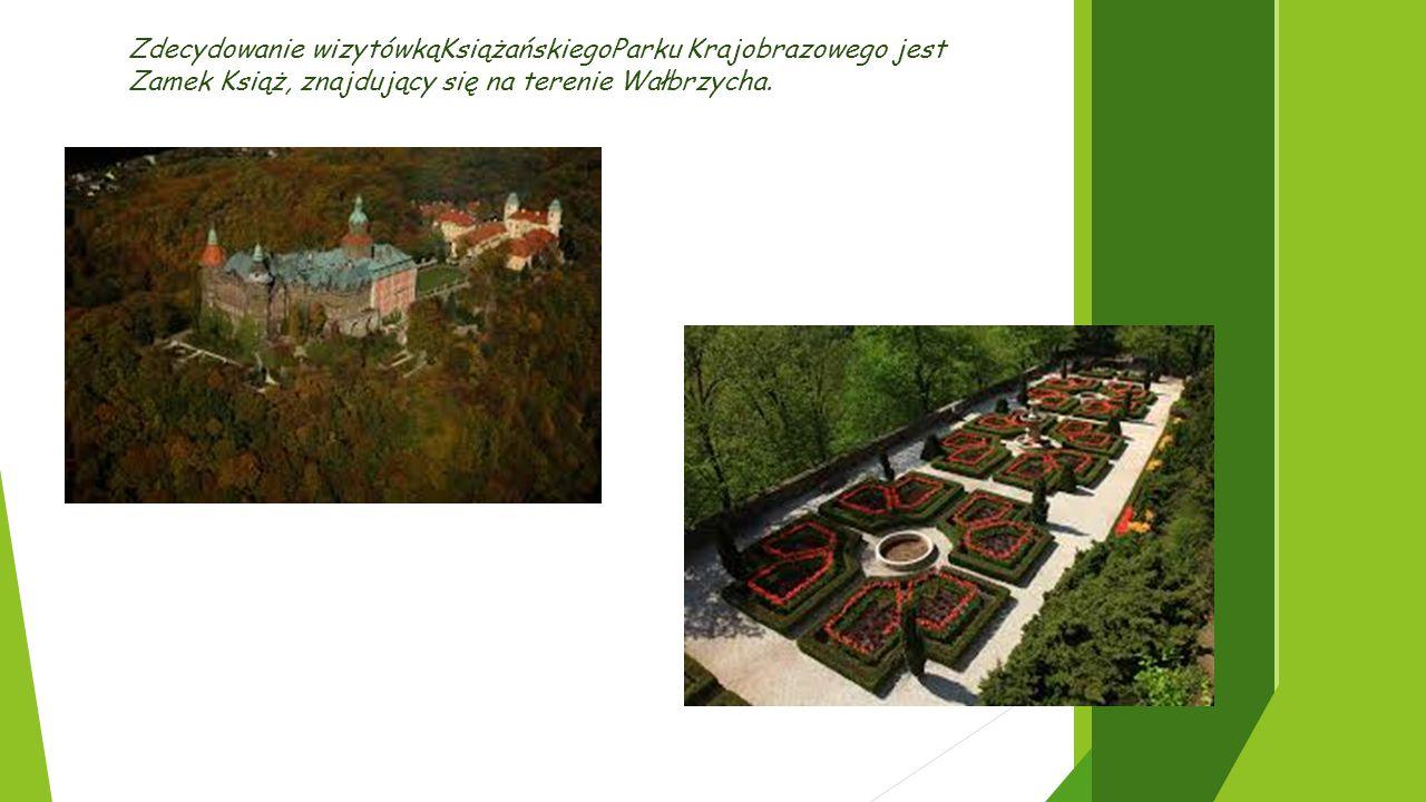 Zdecydowanie wizytówkąKsiążańskiegoParku Krajobrazowego jest Zamek Książ, znajdujący się na terenie Wałbrzycha.