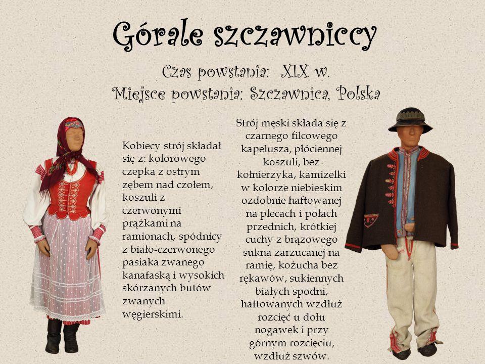 Ubiór kontuszowy Czas powstania ok.