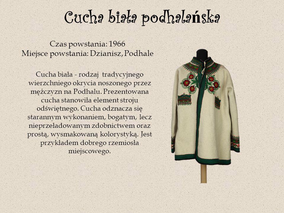 Strój kobiecy wilamowicki Czas powstania: pocz.XX w.