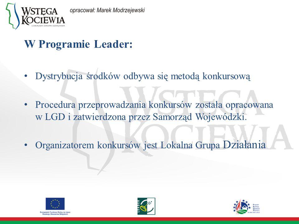 Dystrybucję środków poprzedzają działania: Promocyjne Szkoleniowe Doradcze