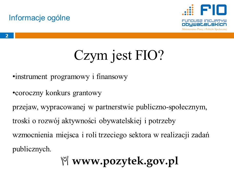 FIO 2015 - omówienie Regulaminu 33 konkurs FIO 2015 Priorytet 2 Priorytet 3Priorytet 4 Komponent Działań Systemowych