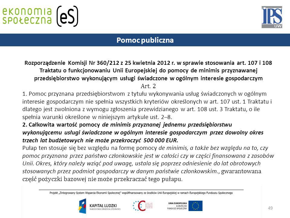 49 Rozporządzenie Komisji Nr 360/212 z 25 kwietnia 2012 r.