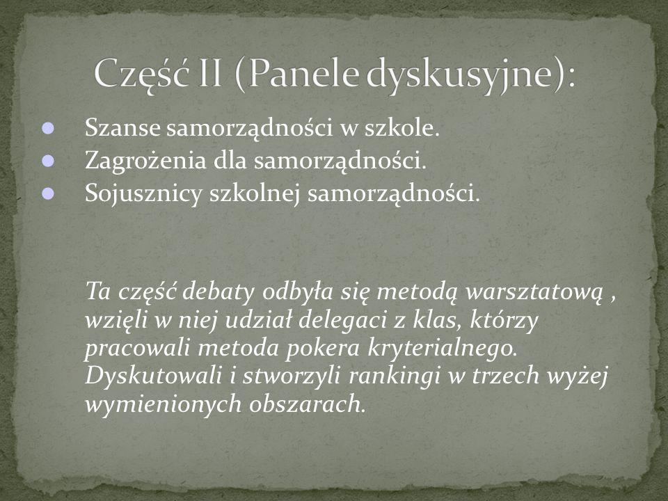 Przedstawienie wniosków z pracy zespołów klasowych.