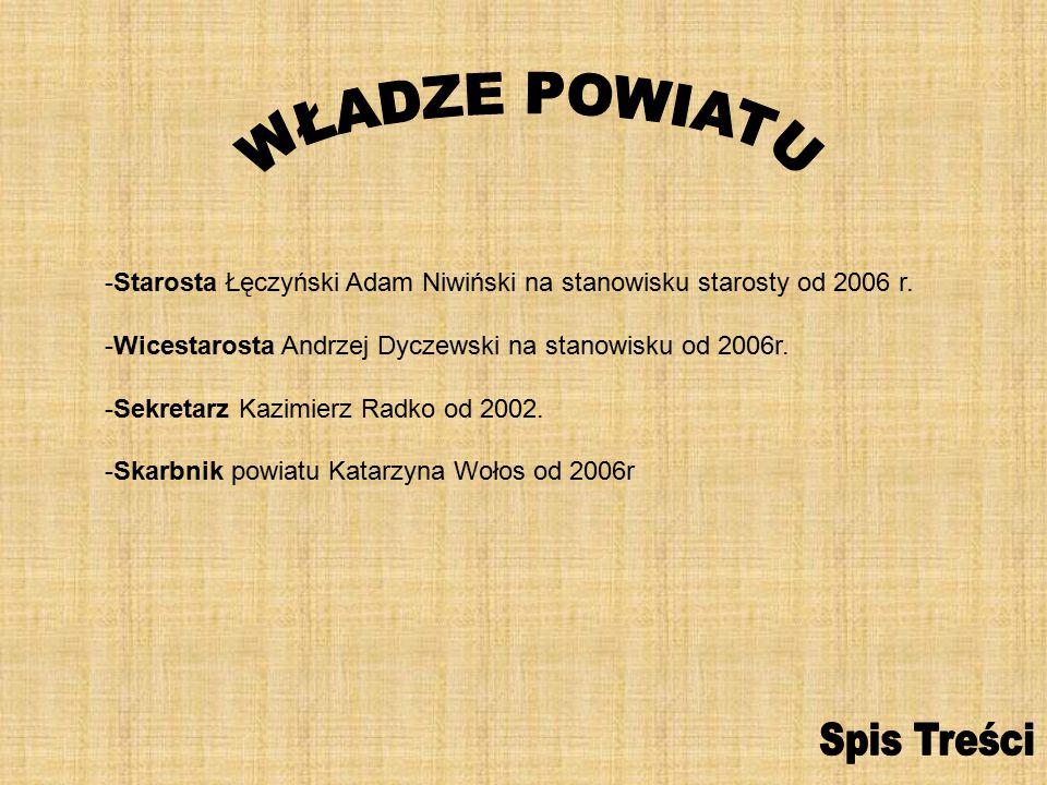 -Starosta Łęczyński Adam Niwiński na stanowisku starosty od 2006 r.