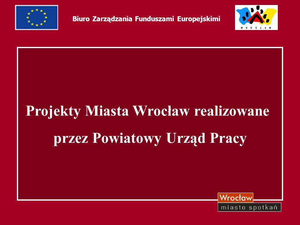 33 Projekty Miasta Wrocław realizowane przez Powiatowy Urząd Pracy Biuro Zarządzania Funduszami Europejskimi