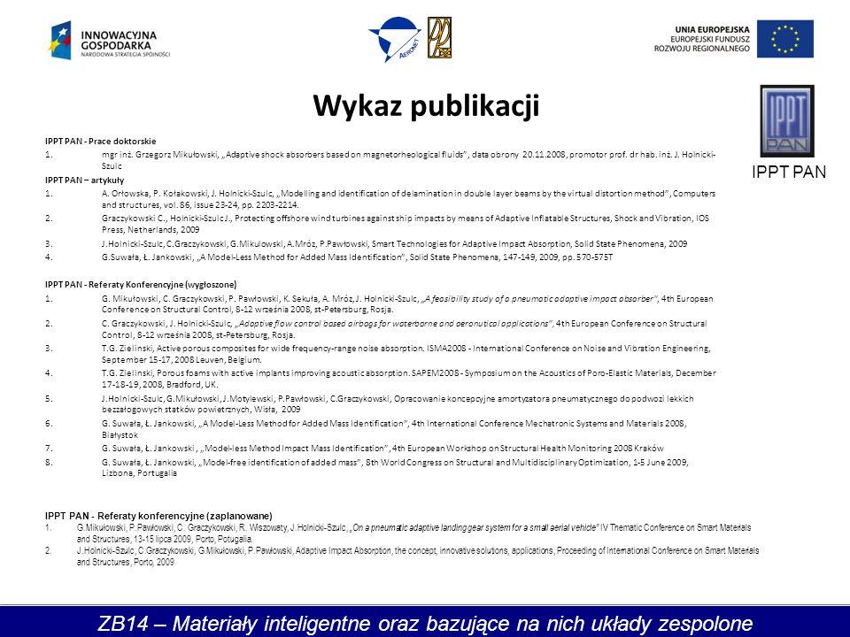 Wykaz publikacji IPPT PAN - Prace doktorskie 1.mgr inż.