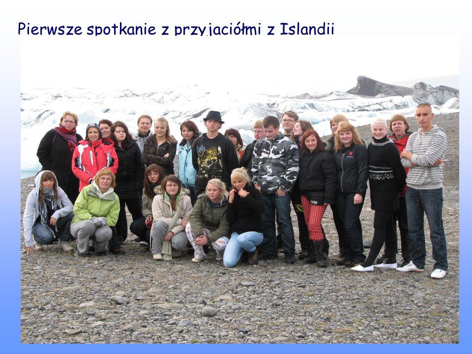Pierwsze spotkanie z przyjaciółmi z Islandii