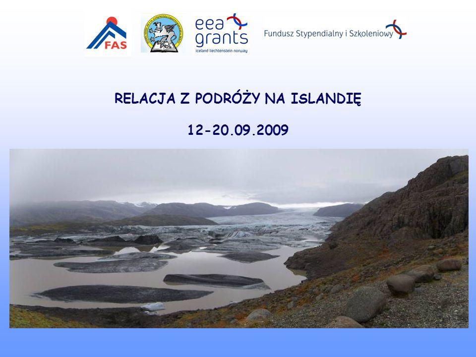 RELACJA Z PODRÓŻY NA ISLANDIĘ 12-20.09.2009
