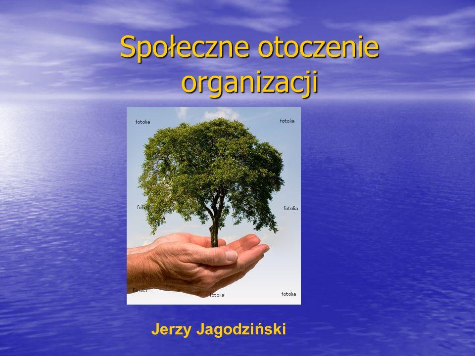 Społeczne otoczenie organizacji Jerzy Jagodziński
