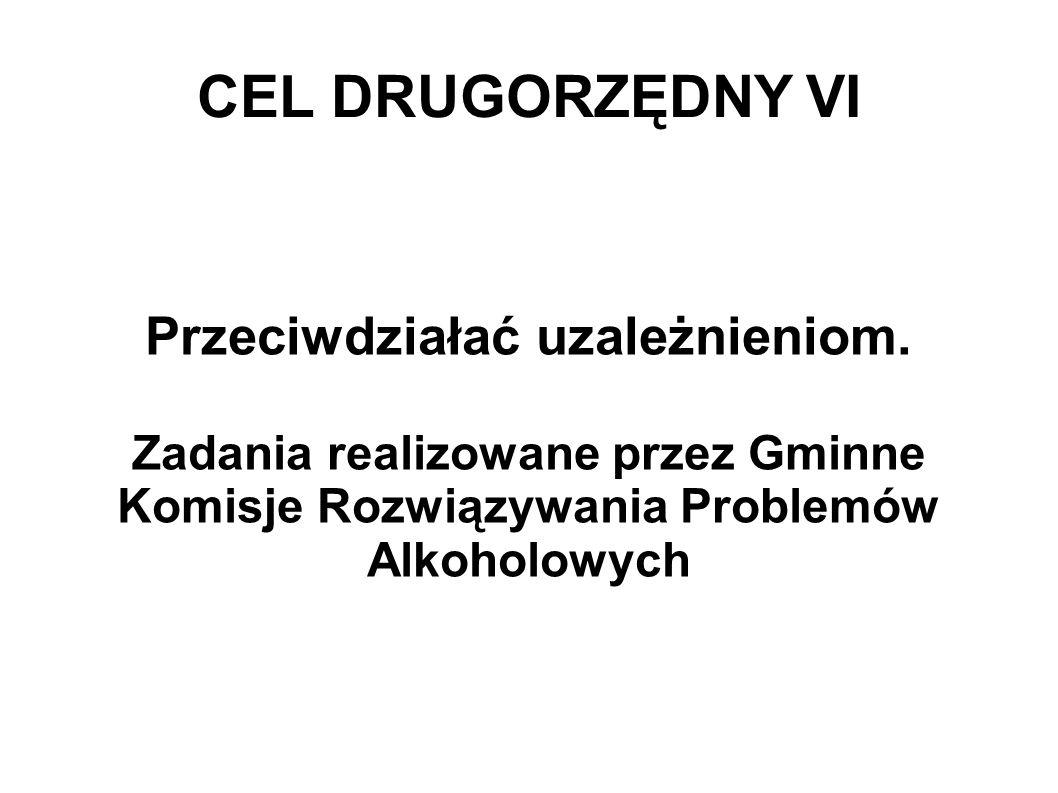 CEL DRUGORZĘDNY VI Przeciwdziałać uzależnieniom.