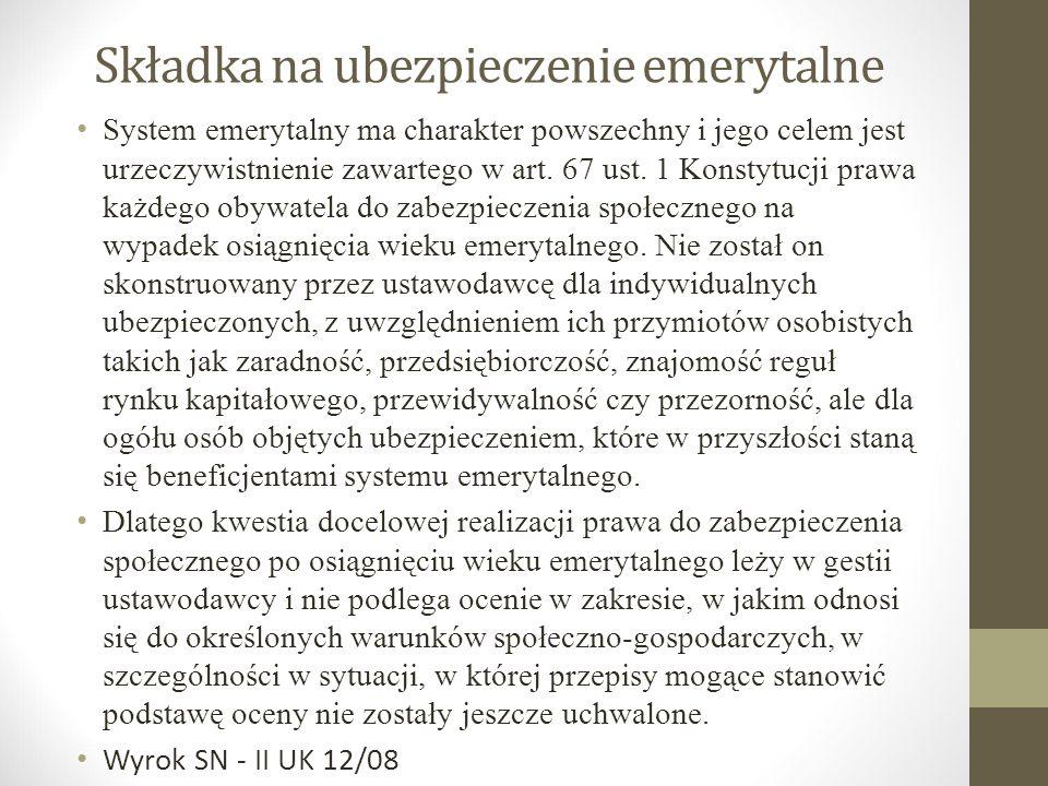 Zróżnicowanie systemu emerytalnego Stara emerytura Nowa emerytura Urodzeni przez 1 stycznia 1949r.