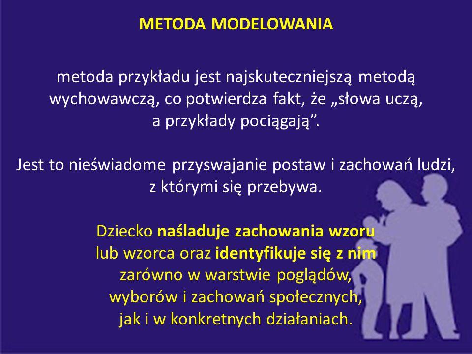 METODA MODELOWANIA - Jest bardzo przydatna i pożyteczna z wychowawczego punktu widzenia.