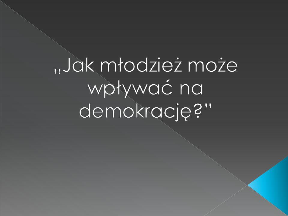  1.Czym jest demokracja.  2. Młodzież o władzy ludu.