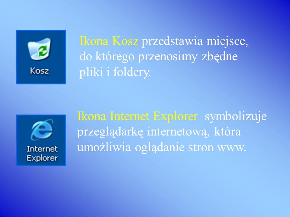 Ikona Internet Explorer symbolizuje przeglądarkę internetową, która umożliwia oglądanie stron www.