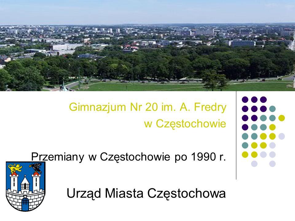 Gimnazjum Nr 20 im. A. Fredry w Częstochowie Przemiany w Częstochowie po 1990 r. Urząd Miasta Częstochowa