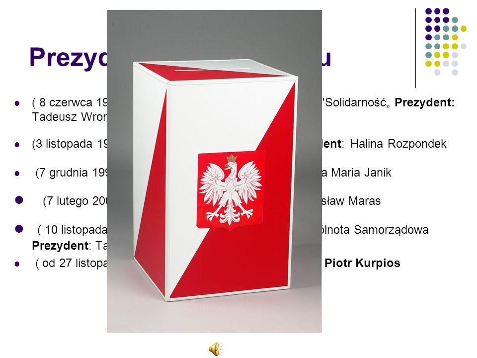 Prezydenci po 1990 roku ( 8 czerwca 1990 - 14 października 1995 ) Partia: KO