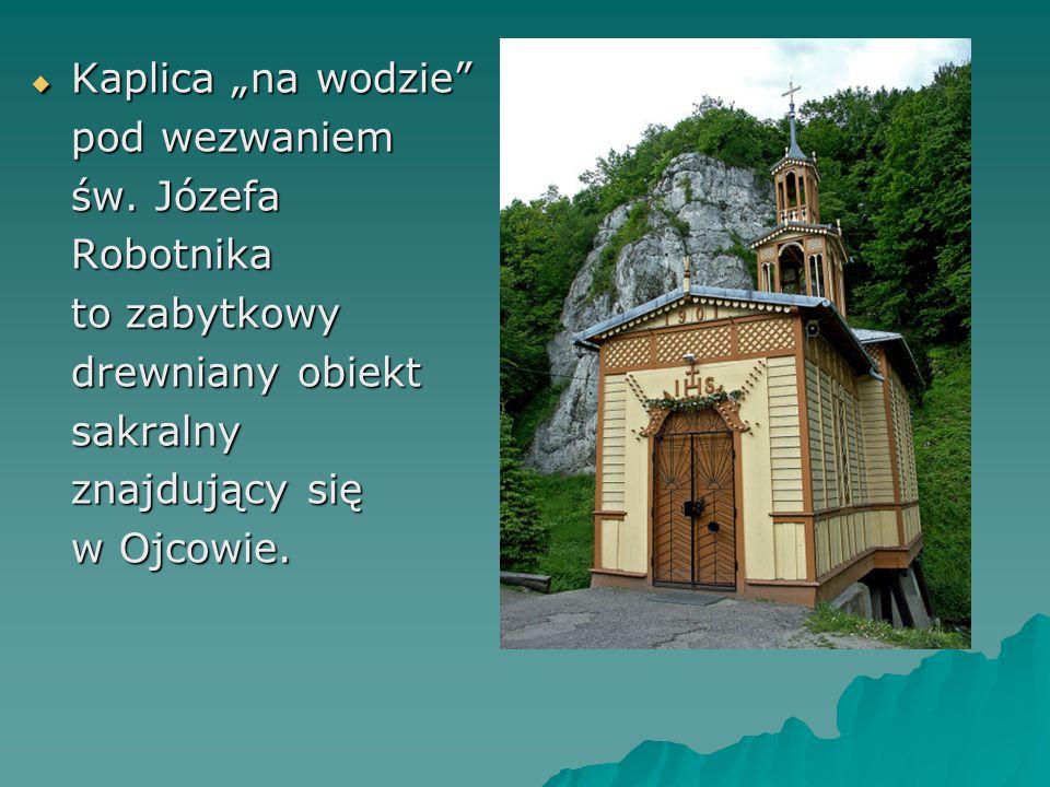 """ Kaplica """"na wodzie pod wezwaniem św."""