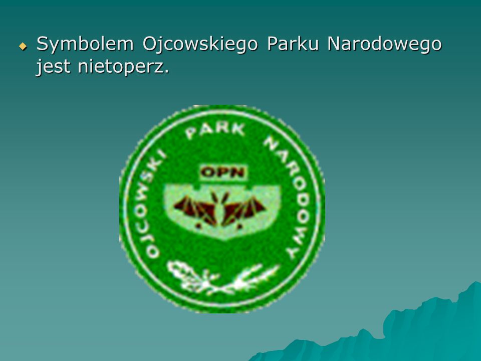  Symbolem Ojcowskiego Parku Narodowego jest nietoperz.
