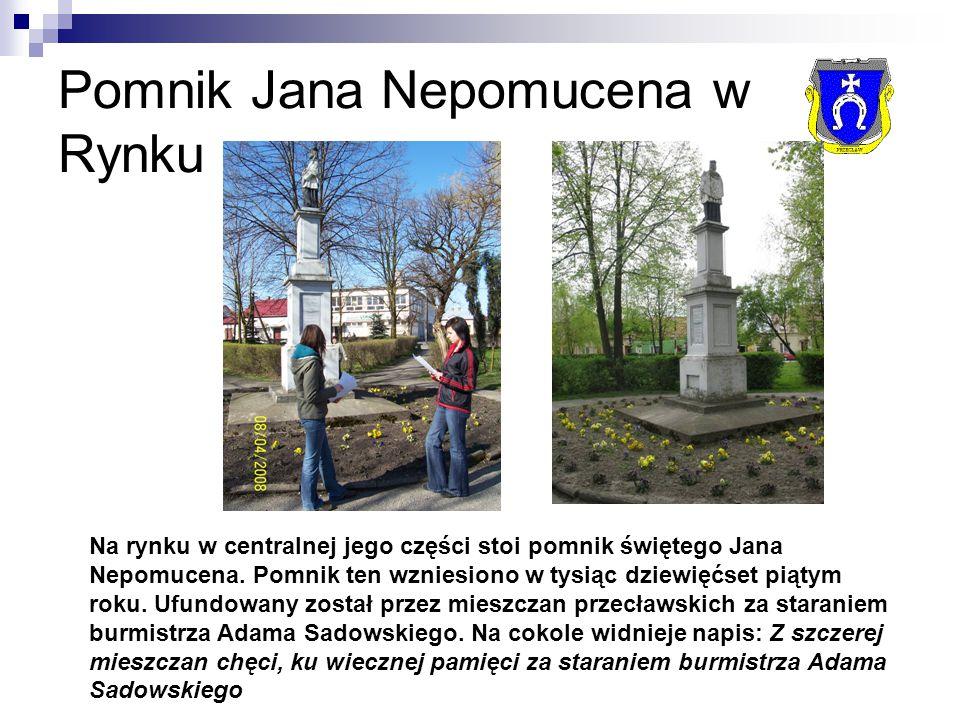 Pomnik Jana Nepomucena w Rynku Na rynku w centralnej jego części stoi pomnik świętego Jana Nepomucena.