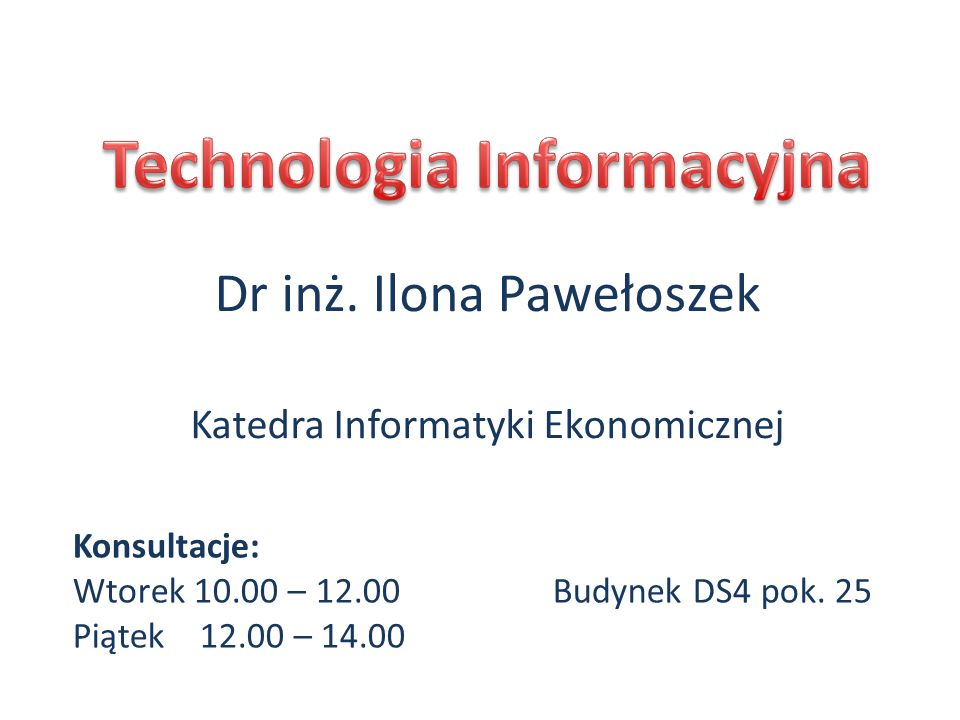 Wprowadzenie do e-learningu i obsługi platformy Moodle Wykład 1