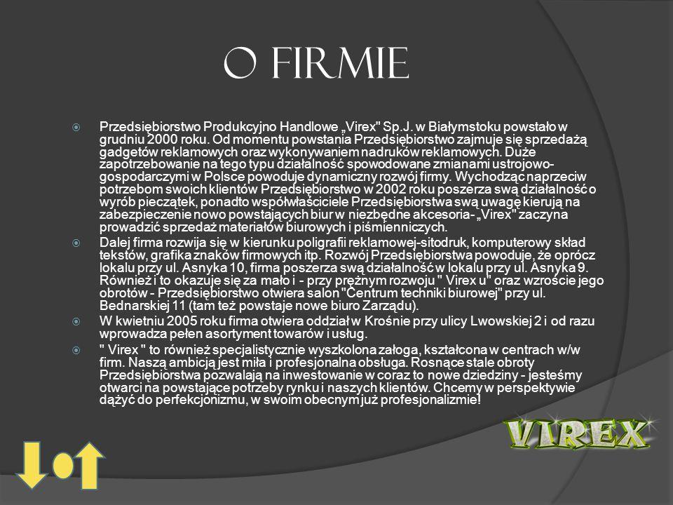 """O firmie  Przedsiębiorstwo Produkcyjno Handlowe """"Virex Sp.J."""