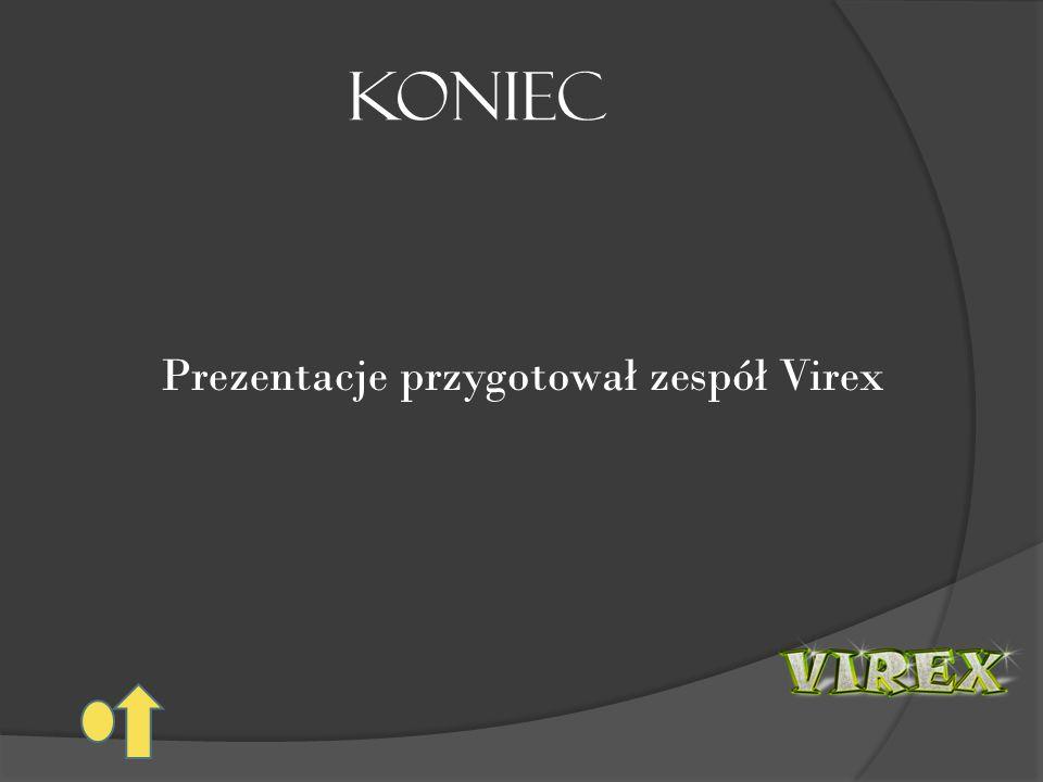 KONIEC Prezentacje przygotował zespół Virex