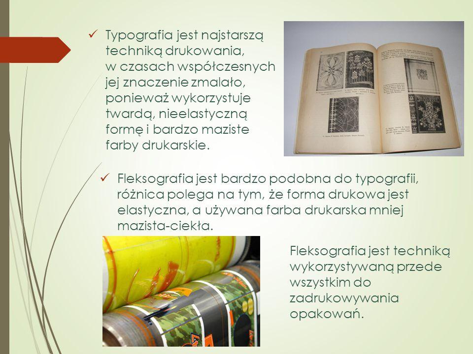 Fleksografia jest bardzo podobna do typografii, różnica polega na tym, że forma drukowa jest elastyczna, a używana farba drukarska mniej mazista-ciekł